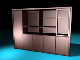Bookcases with doors 3d preview