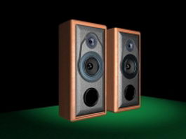 Computer speakers 3d model preview