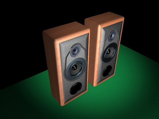 Computer speakers 3d rendering
