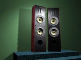 Hi-Fi Speakers 3d model preview
