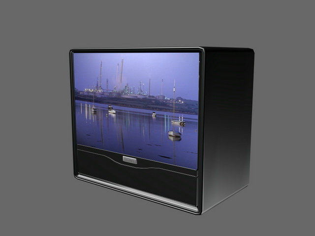 Sony Projection Tv 3d Model 3d Studio 3ds Max Files Free