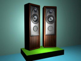 Wood speaker boxes 3d preview
