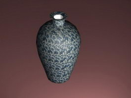 Ceramic decorative vase 3d model preview