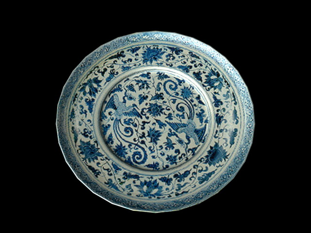 Decorative plate 3d rendering