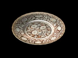 Decorative wall plate 3d preview