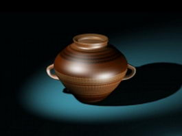 Decorative pottery pot 3d preview