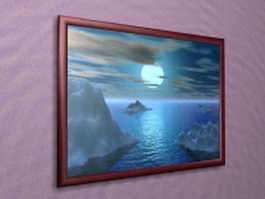 Decorative picture frame 3d preview