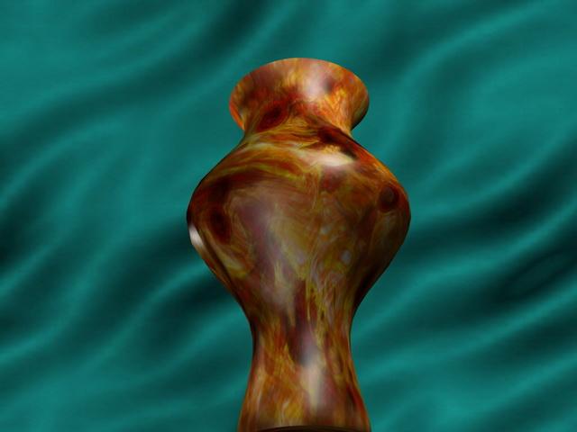 Ornamental vase 3d rendering