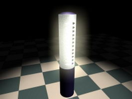 Solar powered lawn lamp 3d preview