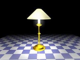 Antique brass table lamp 3d model preview