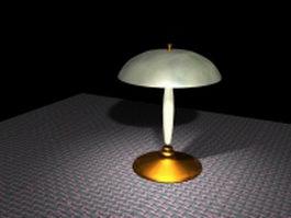 Mushroom shaped table lamp 3d model preview