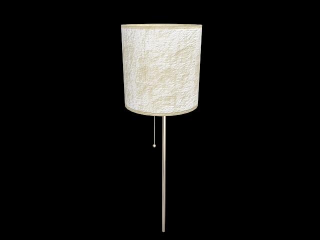 White drum lamp shade 3d rendering