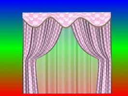 Curtains and window treatments 3d preview