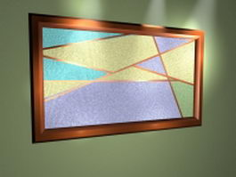 Abstract painting frame 3d preview