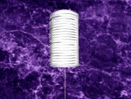 White cylinder lamp shade 3d preview