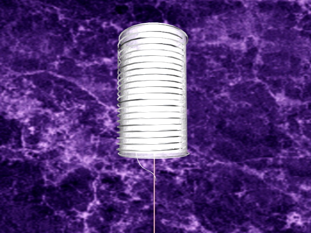 White cylinder lamp shade 3d rendering