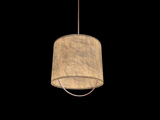 Rustic pendant lamp shade 3d rendering