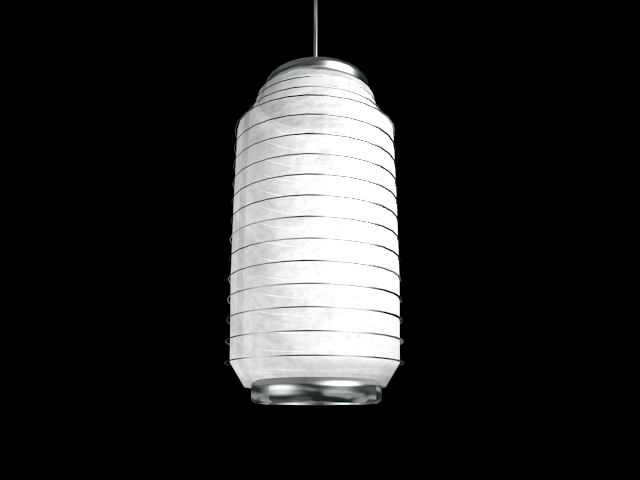 White fabric lampshade 3d rendering
