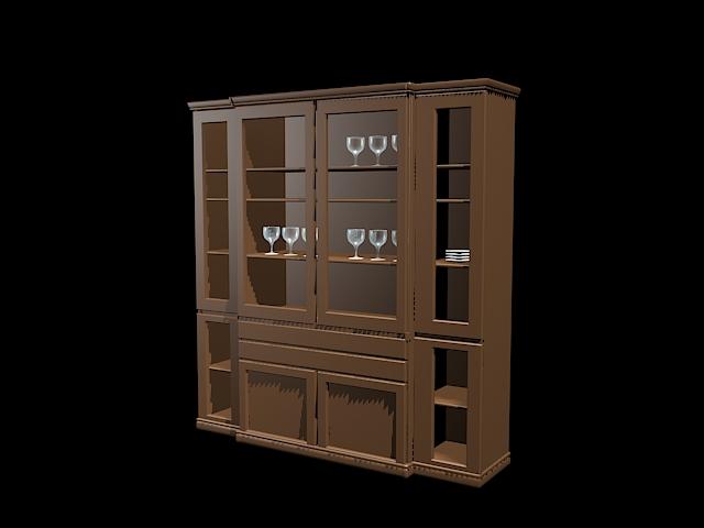Home bar cabinet furniture 3d rendering