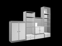 Toy cabinet shelves 3d preview
