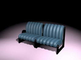 Industrial style sofa 3d preview