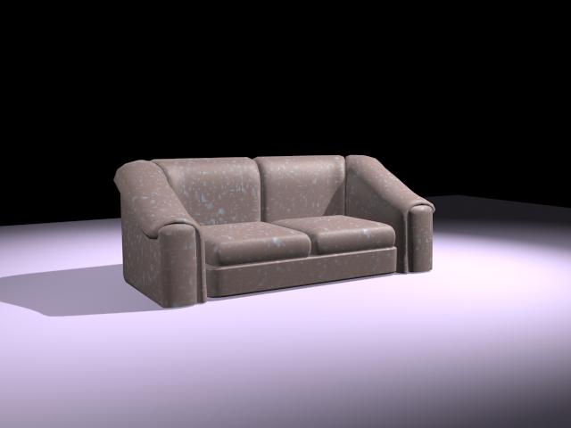 Cloth loveseat 3d rendering