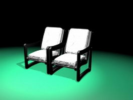Milo Baughman chairs 3d preview