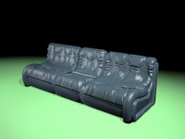 Leather sofa couch 3d preview
