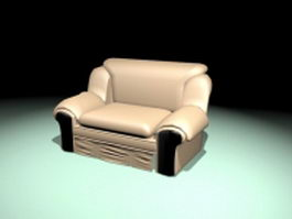 Leather sofa chair 3d preview