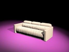Reclining fabric sofa 3d preview