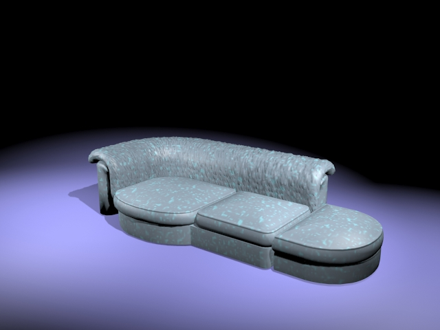 Corner sofa with chaise 3d rendering