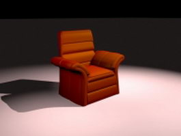 Red armchair 3d preview