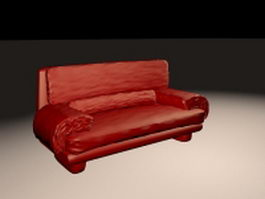 Red couch and sofa 3d preview