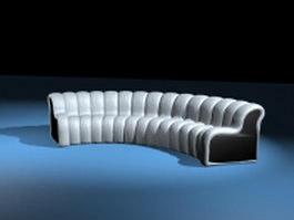 Modern curved sofas 3d preview