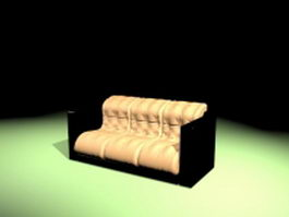 Low sofa seating 3d preview