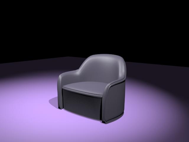Low profile tub chair 3d rendering