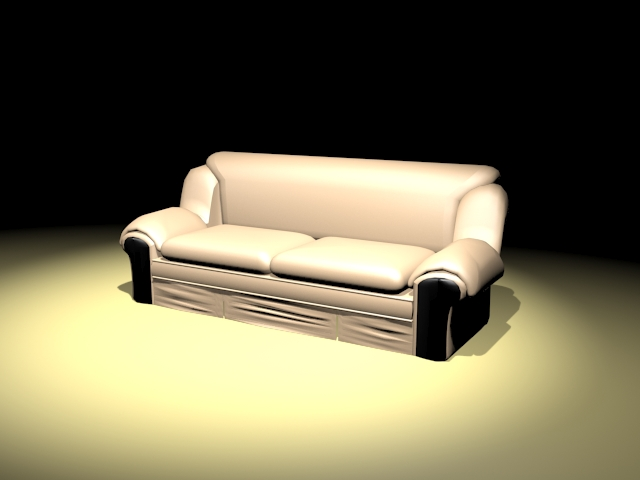 Davenport couch furniture 3d rendering