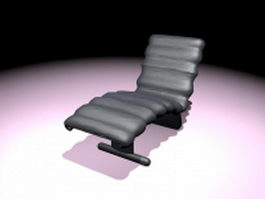 Leather lounge chair 3d preview