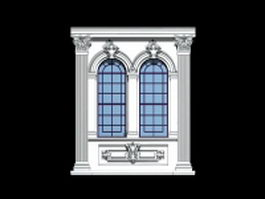 Gothic window 3d preview