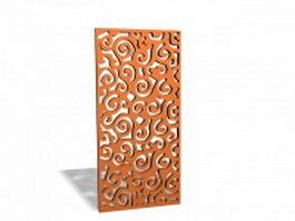 Decorative wood lattice panels 3d preview