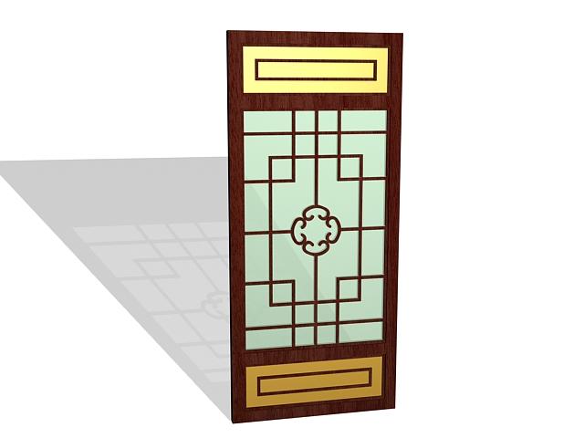 Decorative wood screening panel 3d rendering
