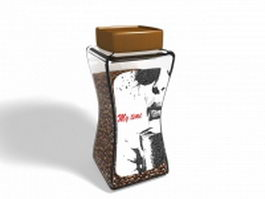 Bottled coffee brands 3d preview