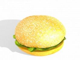 Fast food hamburger 3d preview