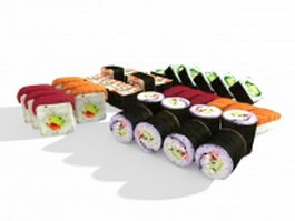 Japanese Sushi 3d preview