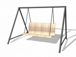 Outdoor swing chair 3d preview