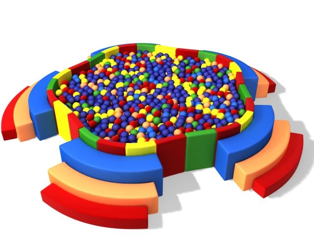 Kids ball pool 3d rendering