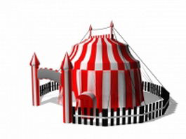 Circus tent 3d preview
