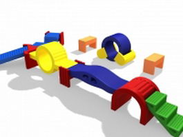 Plastic playground sets for kids 3d model preview
