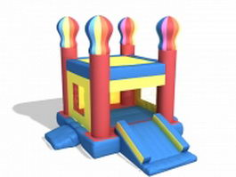 Inflatable bounce house 3d model preview