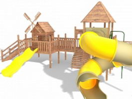 Outdoor play castle 3d model preview